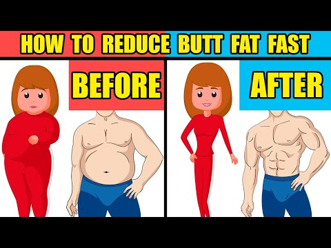 How To Reduce Butt Fat Fast | 5 Easy Exercises