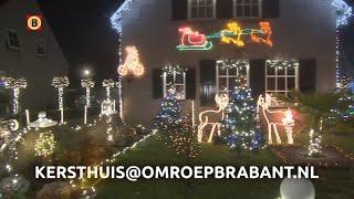 Waar staat het mooiste kersthuis van Brabant 2018