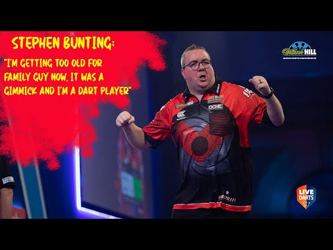 "Stephen Bunting: ""I'm getting too old for Family Guy now, it was a gimmick and I'm a dart player"""