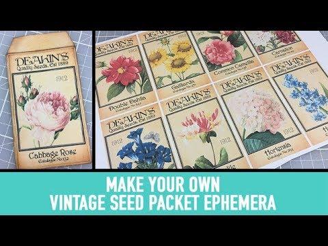 Create your own flower seed packet ephemera