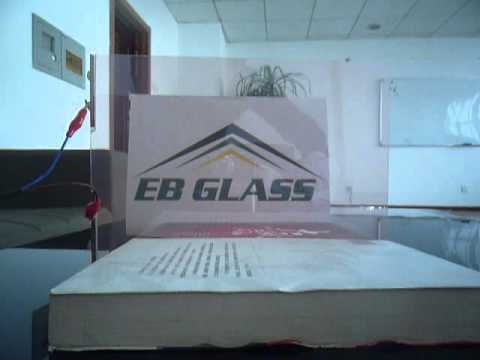 Dimming pink electrical switchable film o, smart pdlc film from EB GLASS