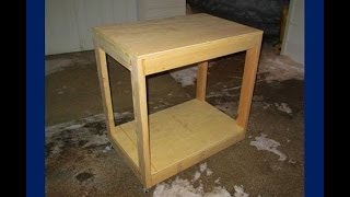 Easy* Build A Cheap And Simple Portable Workbench