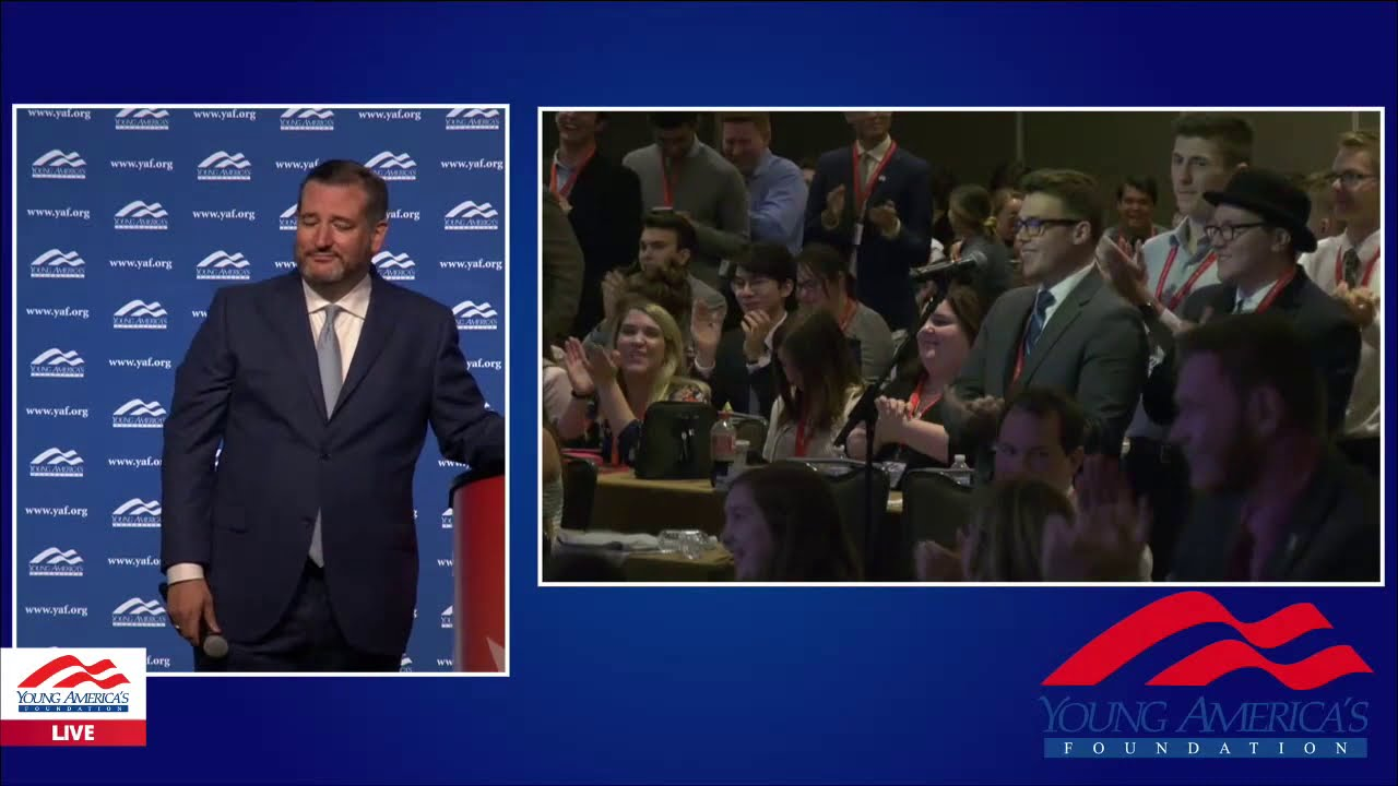 YAFTV Senator Ted Cruz LIVE from YAF's 41st NCSC