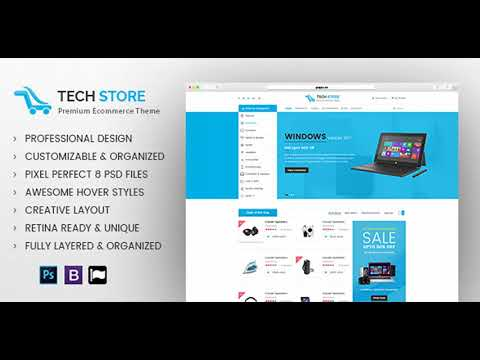 Electronics Store - E commerce PSD Template | Themeforest Website Templates and Themes
