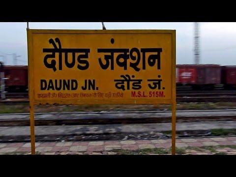 Twin WDM-3D led Gyan-Ganga Express takes U-turn and enters Daund Junction!!