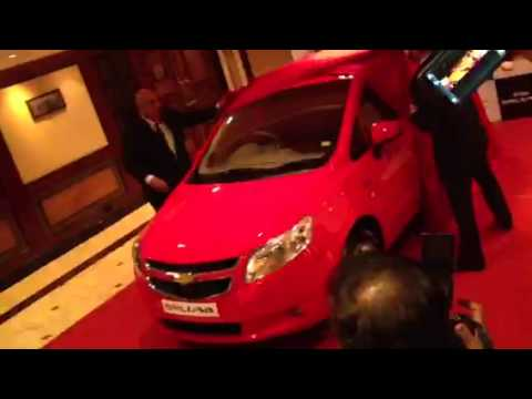 2012 Chevrolet Sail U-VA being unveiled in India
