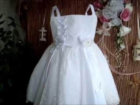 fe782b8b5a6b Βαπτιστικό φόρεμα με δαντέλα. - YouTube