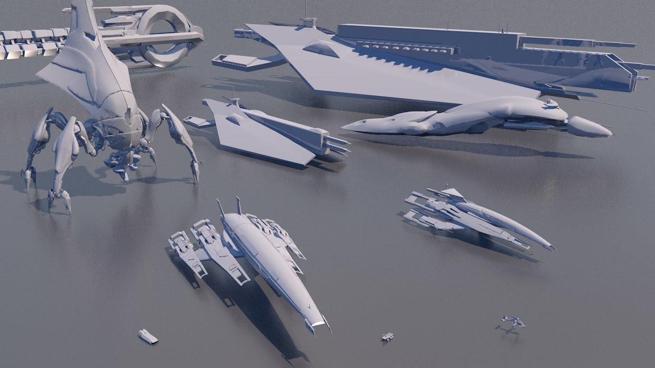 starships size comparison mass effect youtube