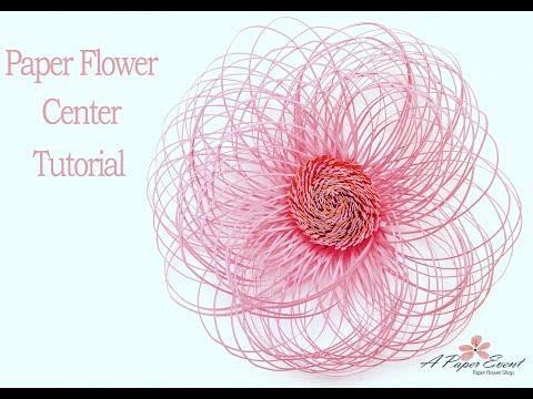 Paper Flower Center Tutorial