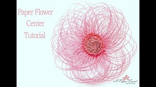 Paper Flower Center Tutorial