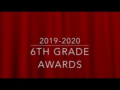 Brewton Middle School 6th Grade Awards 2020