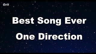 Best Song Ever - One Direction Karaoke 【No Guide Melody】 Instrumental
