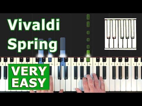 Vivaldi - Spring - VERY EASY Piano Tutorial - Sheet Music (Synthesia) thumbnail