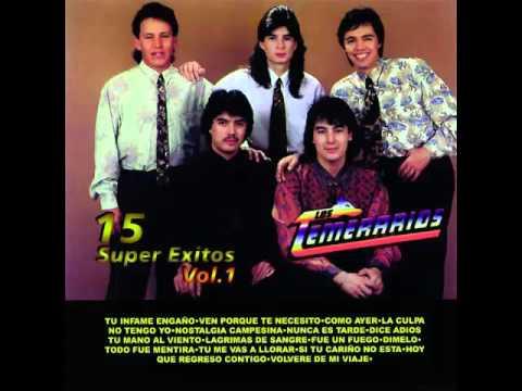 Los Temerarios 15 Super Exitos Vol.1 - Álbum Completo