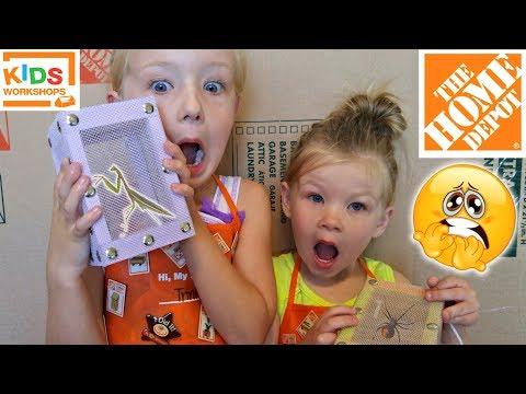 Bug Box Home Depot Workshop - July 1st 2017 - Free For Kids!! We Catch a Spider!