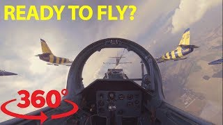 Jump in the cockpit and fly wing to wing with fighter jets in 360 thumbnail