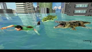 Crocodile Hunting Attack City Simulator / Android Game  / Game Rock