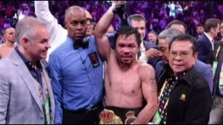 Pacquiao beats Thurman to win WBA Super Welterweight title