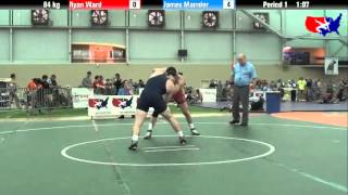 Ryan Ward vs. James Mannier at 2013 ASICS University Nationals - FS