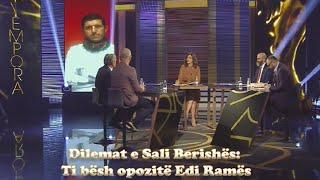 LIVE/ Tempora - Dilemat e Sali Berishës: Ti bësh opozitë Edi Ramës - 22 tetor 2019