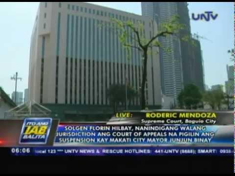 Solicitor General Florin Hilbay, nanindigang walang jurisdiction ang Court of Appeals