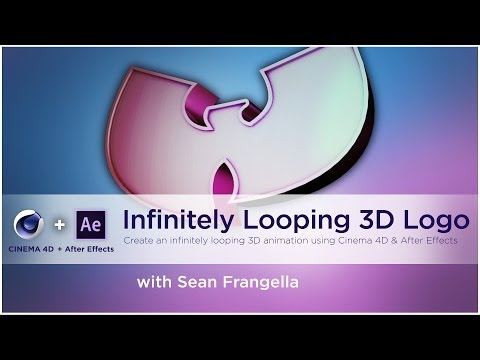 How to Create an infinitely Looping 3D logo using Cinema 4D