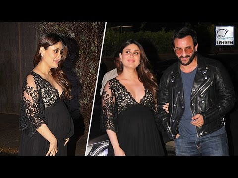 Kareena Kapoor Sizzles In Black At Manish Malhotra Birthday Party | LehrenTV