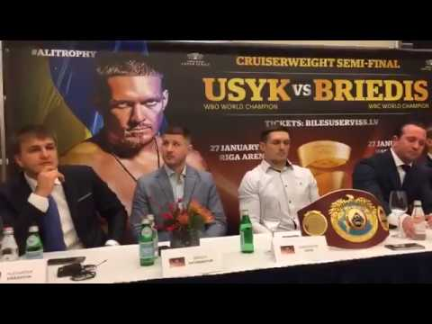 ALEKSANDR USYK Vs MAIRIS BRIEDIS OFFICIAL PRESS CONFERENCE | LATVIA - RIGA