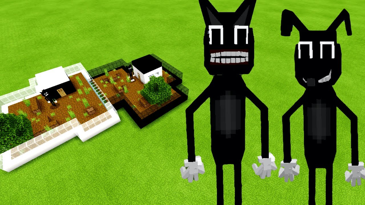 MCPE: How To Make a CARTOON CAT & CARTOON DOG FARM (Minecraft PE)