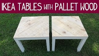 Ikea Lack Table Makeover - Version 1 (with Pallet Wood)