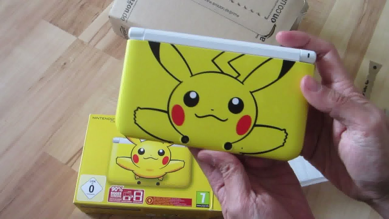 Nintendo 3ds xl pikachu limited edition unboxing video for 3ds xl pikachu achat