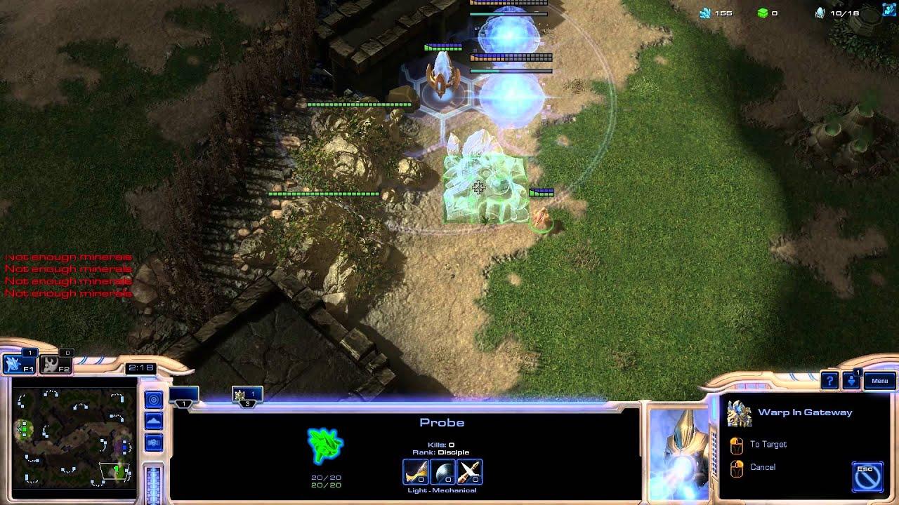 StarCraft 2 Protoss Vs Zerg rush