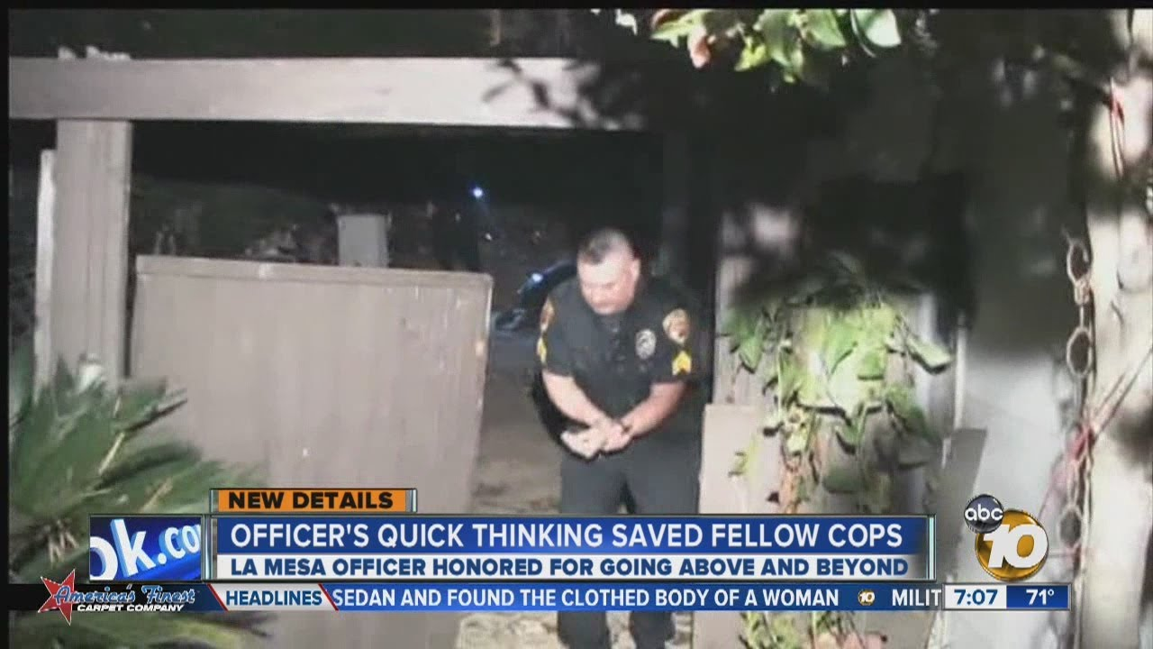 La Mesa police sergeant reveals why he jumped in front of ...