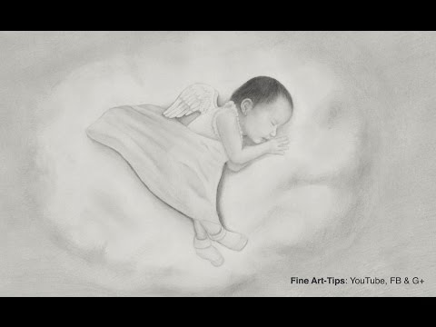 How to Draw a Baby - An Angel