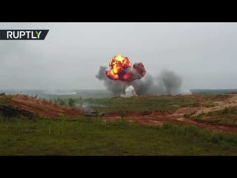 RAW: Second stage of joint Russia-Belarus military drills Za