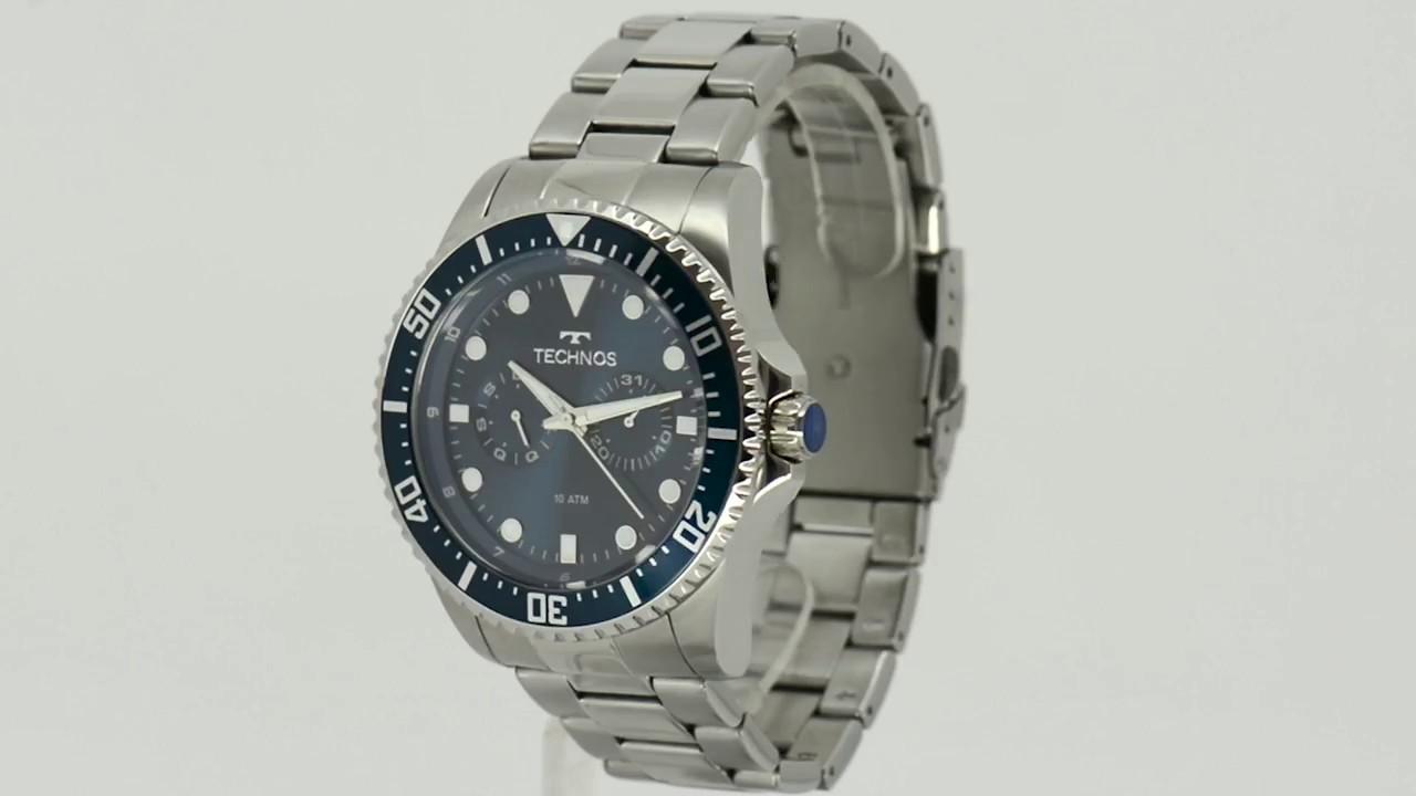 ca22f651e9d26 Relógio Technos Masculino Performance Skymaster 6P25BG 1A - Eclock ...