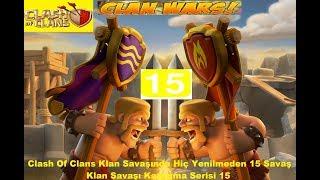 Clash of clans:Savaş Kazanma Serisi 15...Clash:Clan War Victory 15