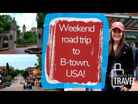 BLOOMINGTON, INDIANA WEEKEND ROAD TRIP FROM CHICAGO     TRAVEL VLOG & SCAVENGER HUNT