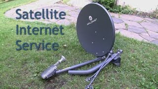 Satellite Internet Service ViaSat, Explornet rural dish installation