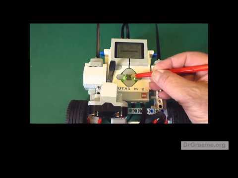 how to make a nxt robot follow a black line