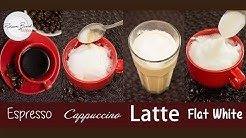 How to Make a Cappuccino,  Latte,  Flat White, Espresso on a Stove Top