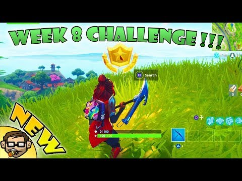 """""""Search between a Bear, Crater and a Refrigerator Shipment"""" Fortnite Week 8 Challenge Location!"""