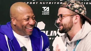 """""""Old Men's Open?"""" Interview with Shawn Rhoden, Mr. Olympia at FIBO 2019"""