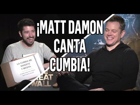 MATT DAMON CANTANDO CUMBIA | El Polaco, Yo Tomo Licor, Dale que so vo | La Gran Muralla
