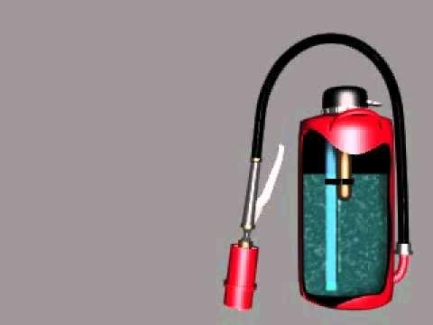 Принцип действия воздушно-пенного огнетушителя