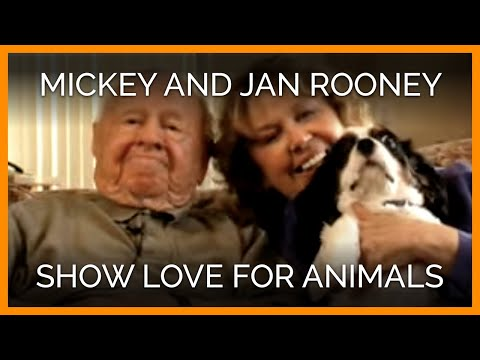 Mickey and Jan Rooney  Love for Animals