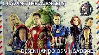 Speed Drawing: Os Vingadores
