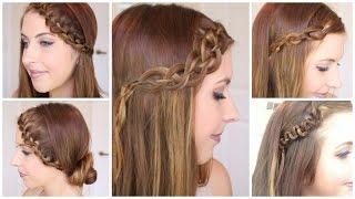 4 braided headband hair tutorials   courtney lundquist