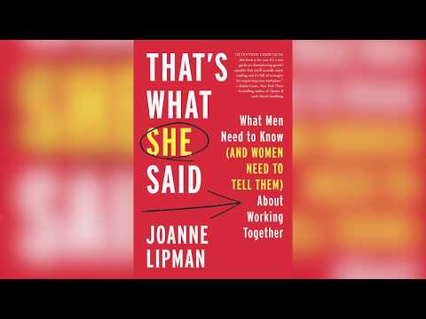 Open Book/ Open Mind: Closing the Gender Gap - Joanne Lipman in conversation with Edward Felsenthal