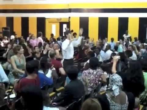 "Maori ""Haka"" chant dance with 160 kids at International School of Dakar"